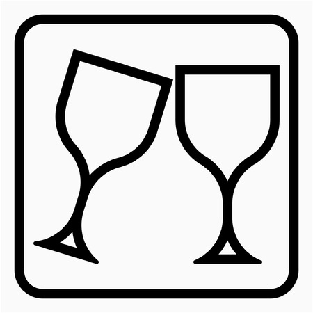 Outline Glass industry pixel perfect vector icon