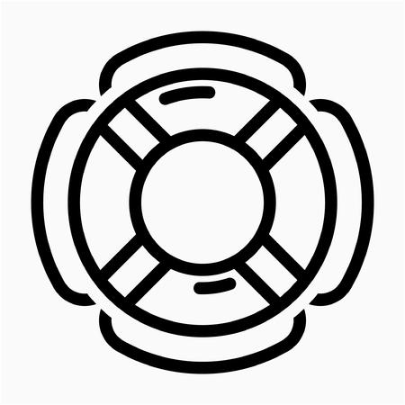 Outline Lifebuoy pixel perfect vector icon