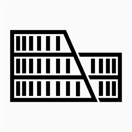 Umriss Rom Kolosseum Pixel perfektes Vektorsymbol