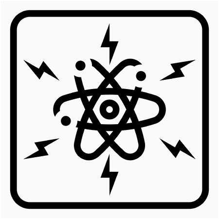 Outline Nuclear industry pixel perfect vector icon