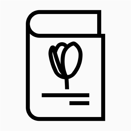 Outline book library pixel perfect vector icon Ilustrace