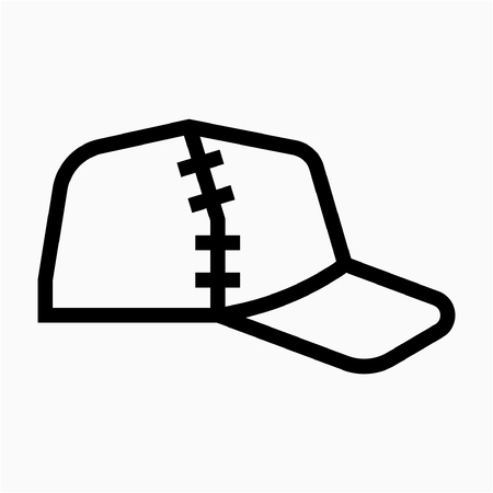 Outline Hat pixel perfect vector icon Ilustrace