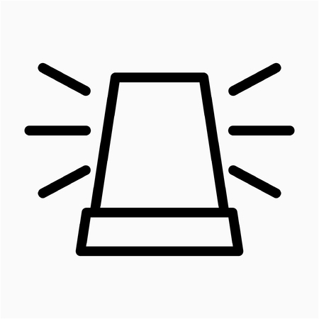 Outline Safety alarm lamp pixel perfect vector icon Ilustrace