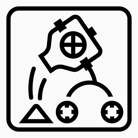 Outline cement industry pixel perfect vector icon Ilustrace