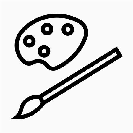 Outline artist pixel perfect vector icon Reklamní fotografie - 111941289