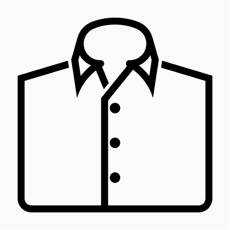 Outline shirt pixel perfect vector icon Ilustrace