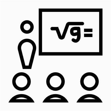 Outline training pixel perfect vector icon