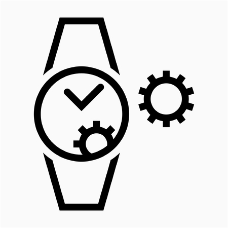 Outline Watchmaker pixel perfect vector icon
