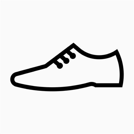 Outline men shoe pixel perfect vector icon