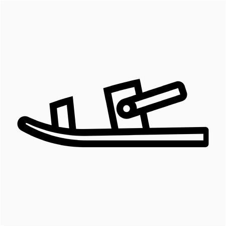 Outline slipper pixel perfect vector icon