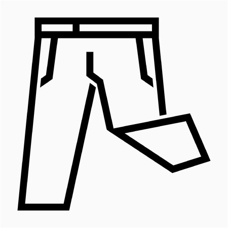 Outline trousers pixel perfect vector icon