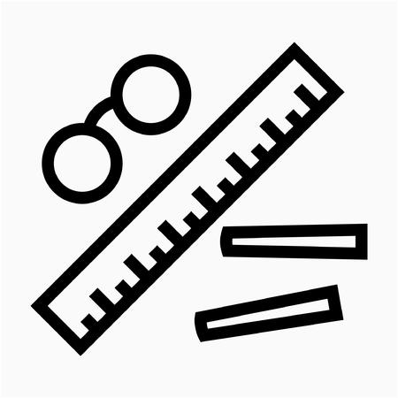 Outline teacher pixel perfect vector icon