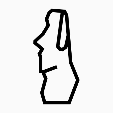 Outline Chile Easter Island pixel perfect vector icon