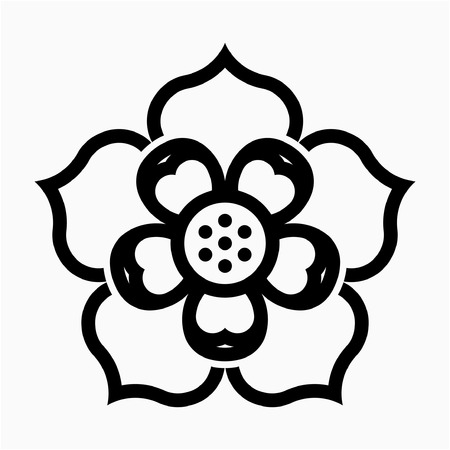 outline Lotus flower pixel perfect vector icon Ilustrace