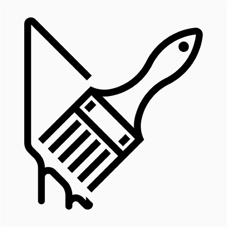 Outline painter pixel perfect vector icon Ilustrace
