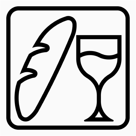 Outline Food beverage industry pixel perfect vector icon Ilustrace