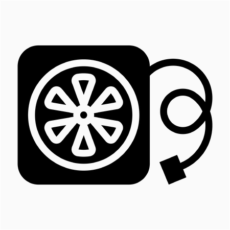 Glyph cooler pixel perfect vector icon Ilustrace