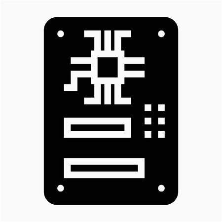 Glyph motherboard pixel perfect vector icon Çizim