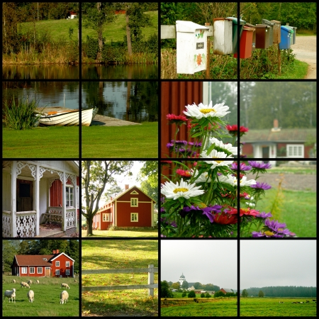 swedish: Collage of various images from Sweden