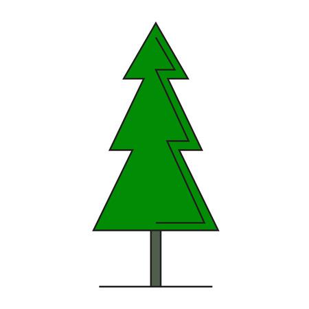 Beautifull geometric green spruce isolated on white background vector illustration 矢量图像