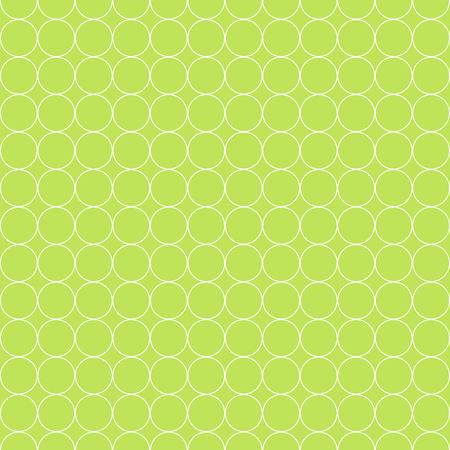 Seamless Pattern of White Circle on Green Background Flat Vector Illustration