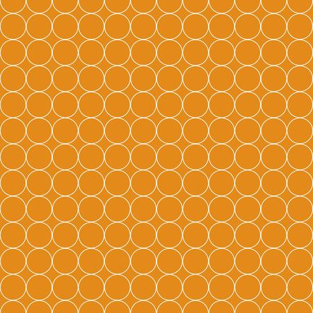 Seamless Pattern of White Circle on Orange Background Flat Vector Illustration