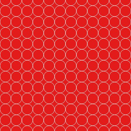 Seamless Pattern of White Circles on Red Background Vector Illustration
