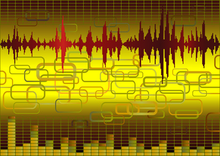 decibels: Abstract music background with retro elements