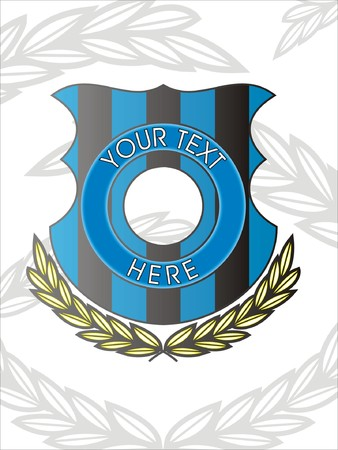 war decoration: Blue and black shield logo Illustration