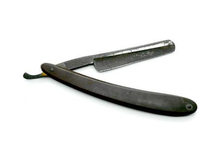 Vintage razor isolated on white background