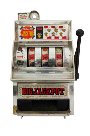 Slot machine with three bells jackpot Standard-Bild