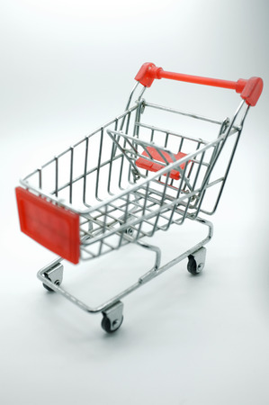 Empty shopping cart, side view photo