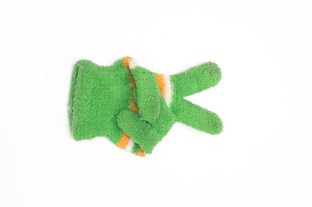 winter gloves: Knitted woolen gloves, winter gloves victory symbol