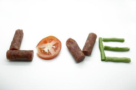 roman beans: Food message love