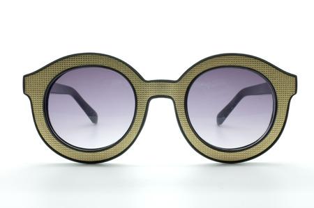 eye wear: Retro amarillo, vidrios del vintage, desgaste del ojo, negro y el marco de oro