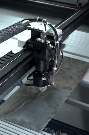 laser cutting: Laser cutting machine Stock Photo