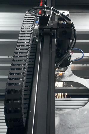 corte laser: Máquina de corte por láser
