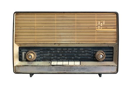 Retro radio receiver of the last century Stock Photo