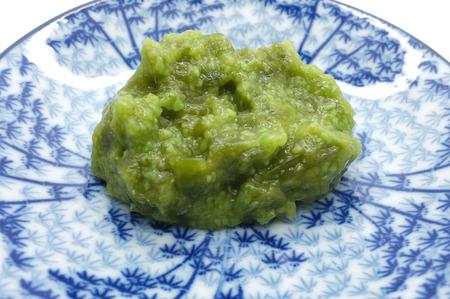 wasabi: Wasabi on dish Stock Photo