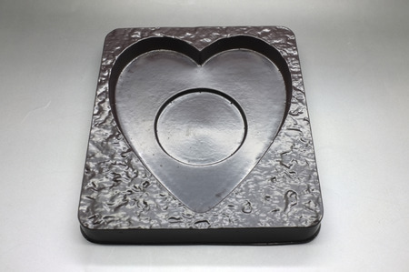plastic heart: Empty plastic tray in heart shape Stock Photo