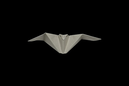 postcard background: Origami in shape of Bat