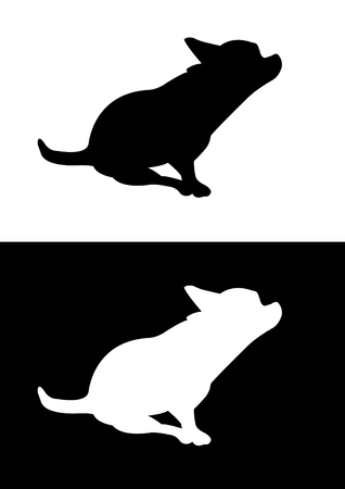 breed: Chihuahua dog breed - silhouette vector