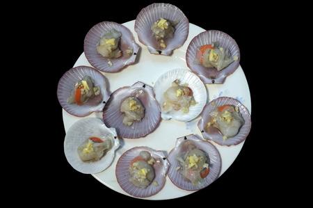 petoncle: pétoncles crus et frais Banque d'images