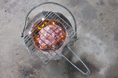 brazier: Brazier with hot charcoals