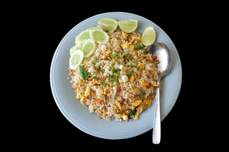 Thai cuisine , Crab meat fried rice  or fried rice with crab