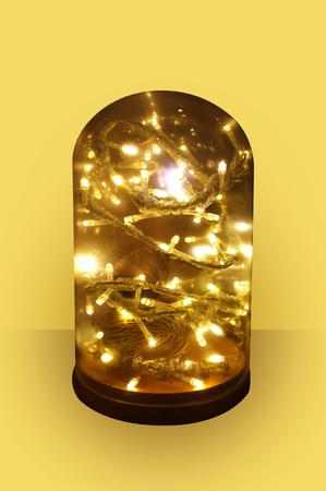 Light string decoration in dome glass Zdjęcie Seryjne - 114323828