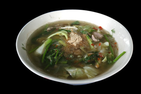 Hot and Spicy Soup with Pork  or  Tom Saeb Kraduk Moo