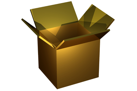 open box with the outgoing light . Object