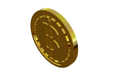 Bitcoin coin. Cryptocurrency money digital blockchain symbol , Object