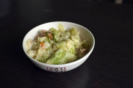 Stir-Fried Cabbage with Fish Sauce and pork